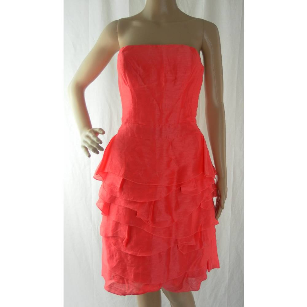 3e48f484bad Reiss Strapless Cocktail Dress - Size  8 - Coral