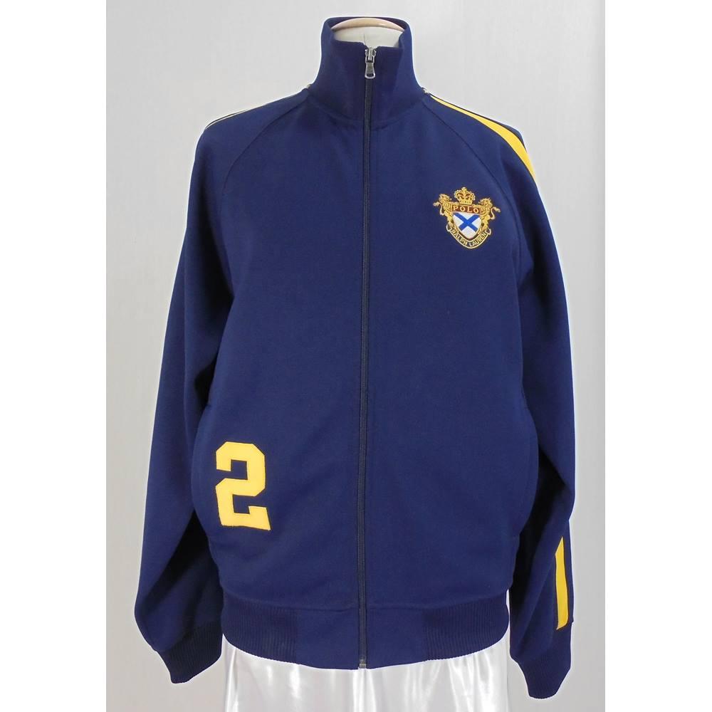 3f1c5e9519a6 Polo Ralph Lauren - Size  M - Navy Blue Retro Polo Jacket