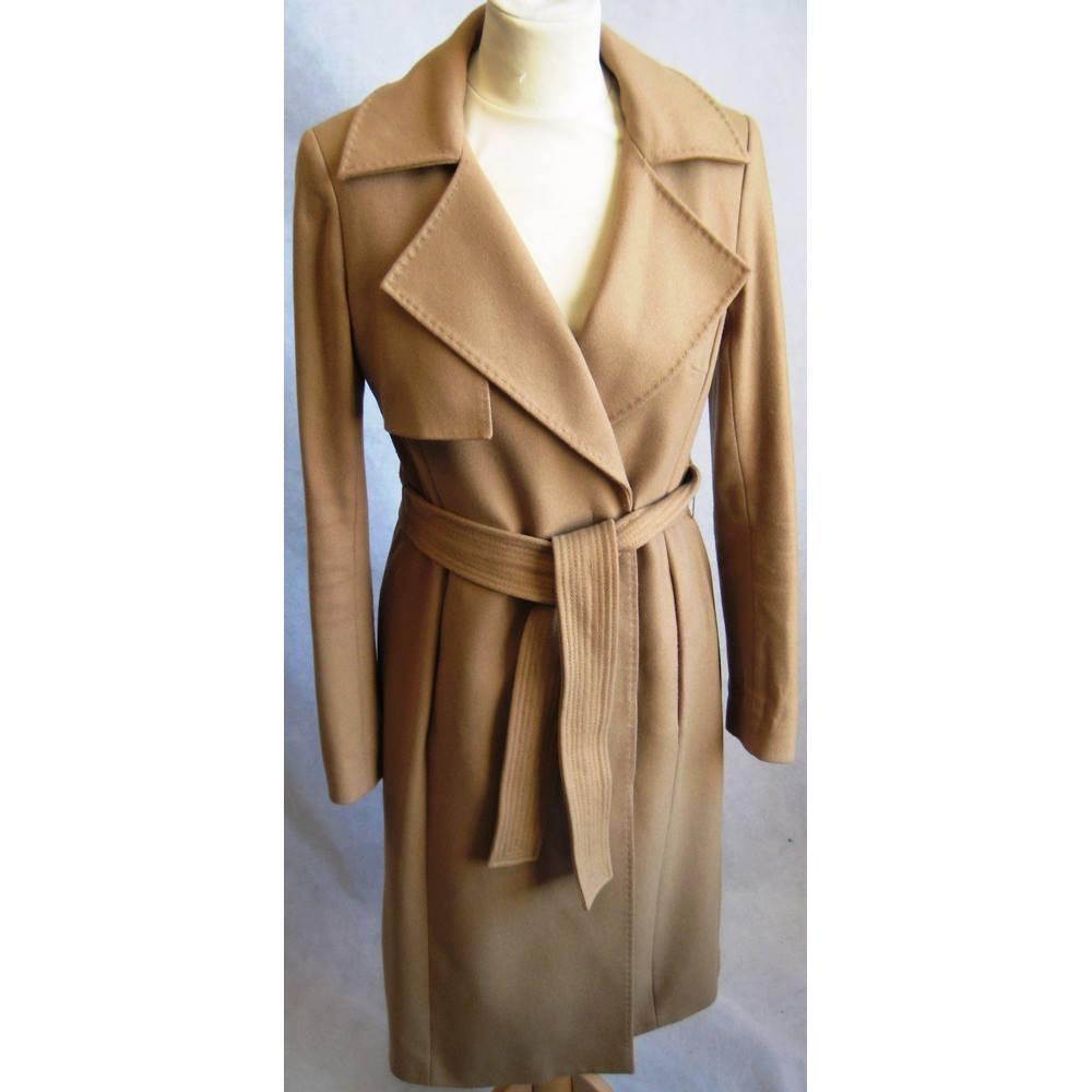be215d2084f Karen Millen wool mix camel wrap coat size 6/EU34 Karen Millen - Size: