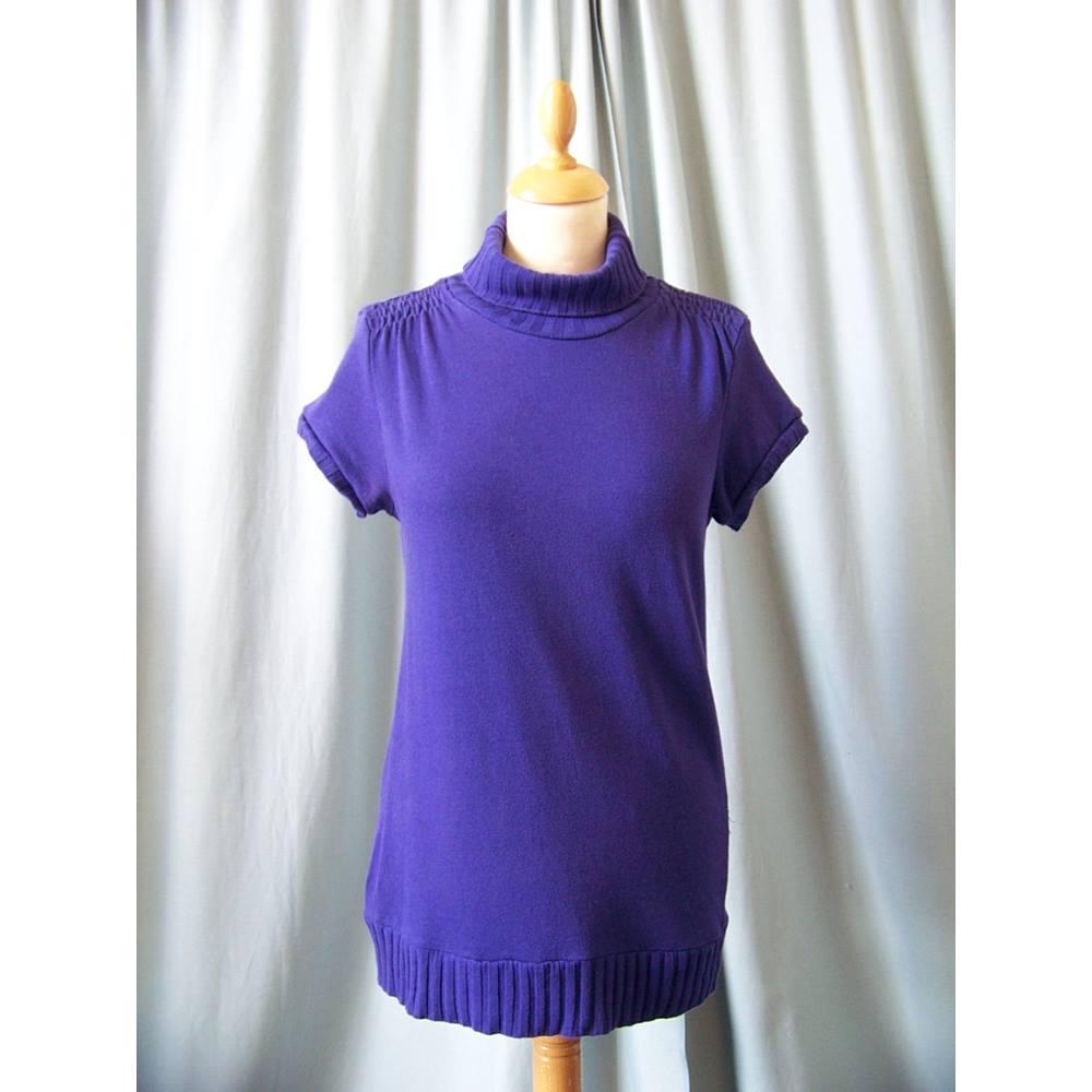 06ef7236 Nasquebasics at Zara - Size: 8 - Purple - Short sleeved shirt. Loading zoom