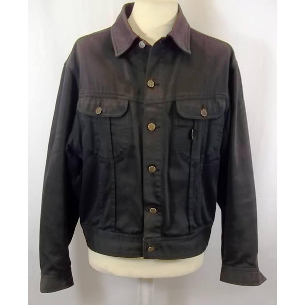 737029b284 Yves Saint Laurent - Size: M - Black - Denim jacket   Oxfam GB   Oxfam's  Online Shop