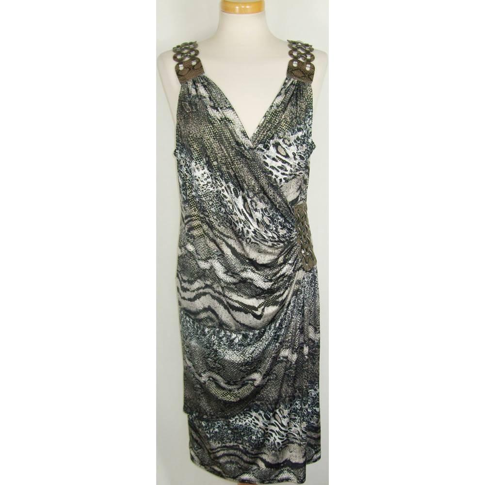 7b6c2d0a513c Joseph Ribkoff size 16 black animal print dress | Oxfam GB | Oxfam's ...
