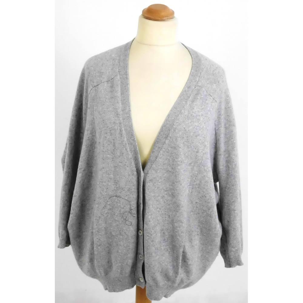 Caroline Cashmere Size: XXL-XXXL Grey Cashmere Cardigan | Oxfam GB ...