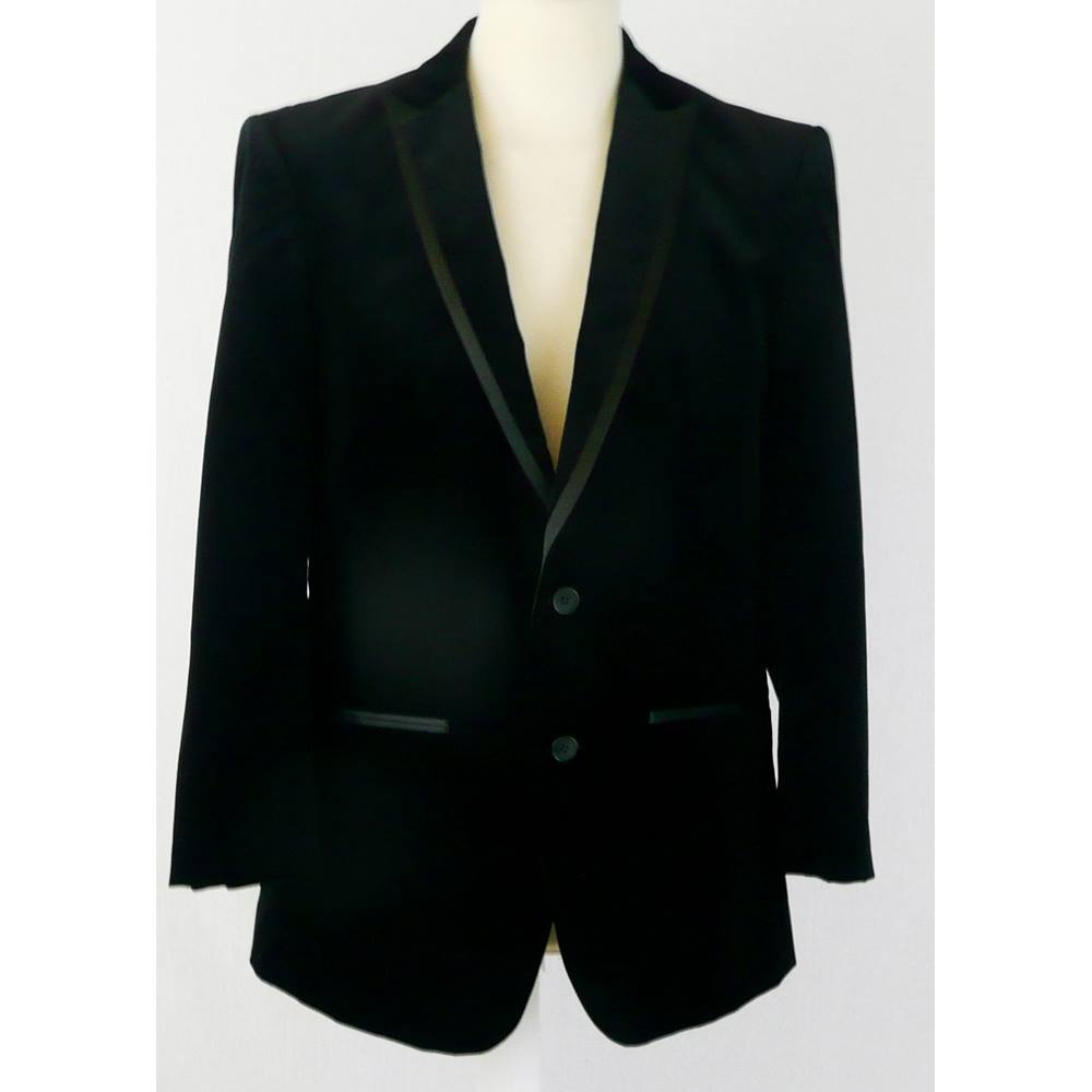 f0bb60ec Zara Man approx M black velvet slim fit blazer jacket | Oxfam GB ...