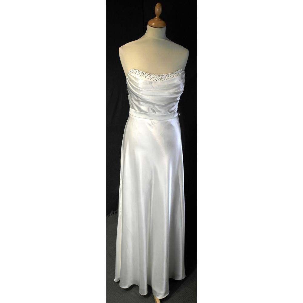 House of fraser size 12 cream ivory strapless for Oxfam wedding dress shop