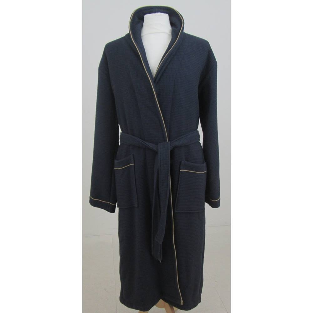 NWOT M&S David Gandy for Autograph size S navy dressing gown   Oxfam ...