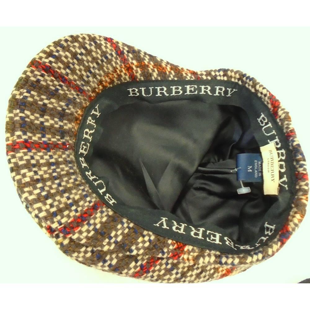 54a7eebb41b BURBERRY - Size  Medium - Multi-coloured - Flat cap. Loading zoom. Rollover  to zoom