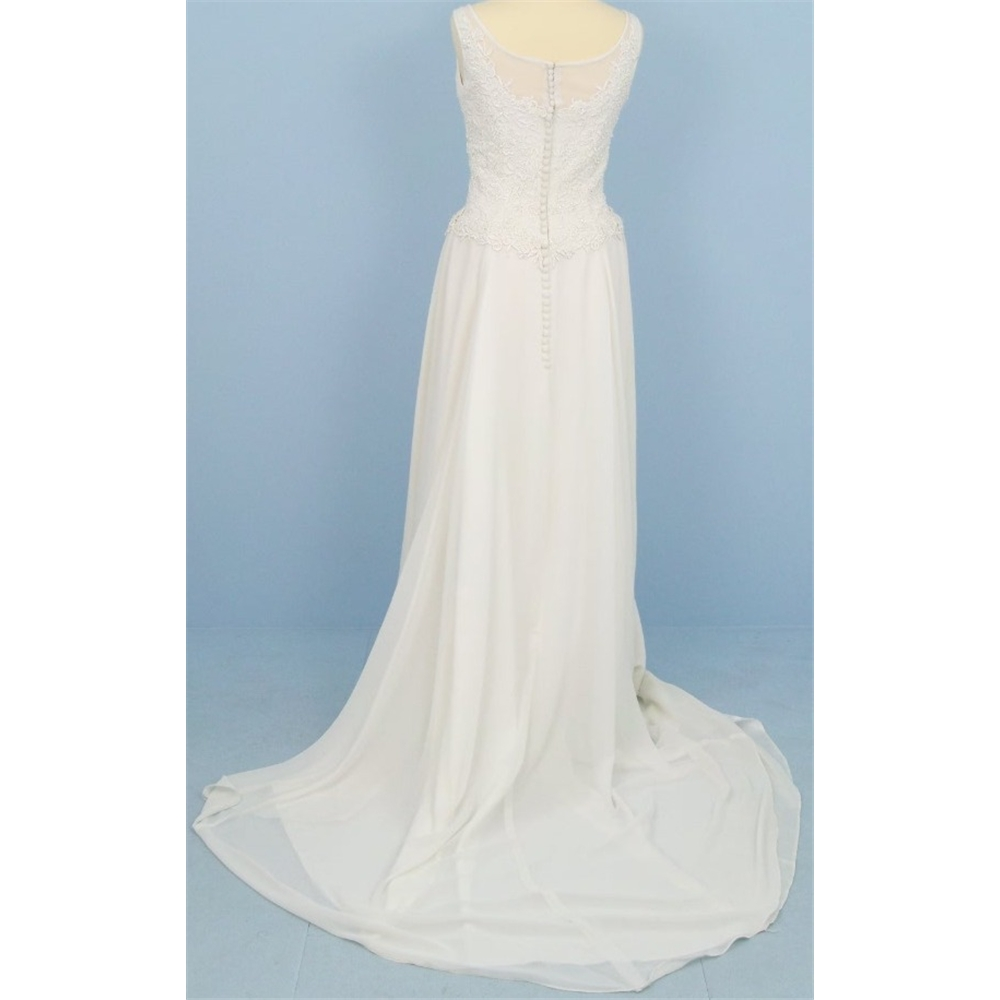 Size M Ivory Column wedding dress | Oxfam GB | Oxfam\'s Online Shop