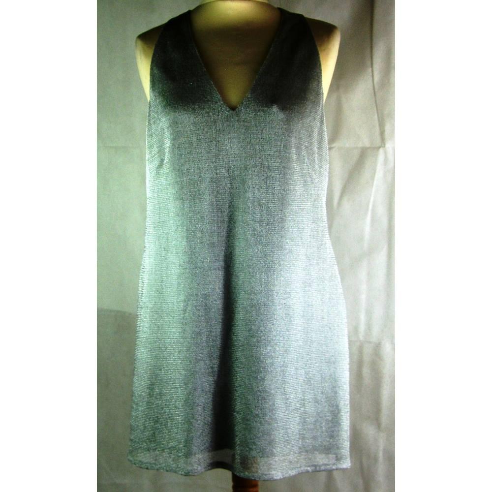 Karen Millen-Dress-size 14-silver Karen Millen - Size: 14 ...