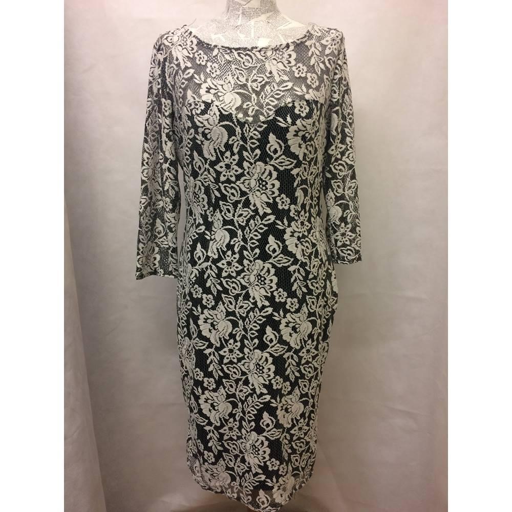 f5d31dcd7c9de Joe Browns - Size: 14 - White / black lace dress BNWT | Oxfam GB ...