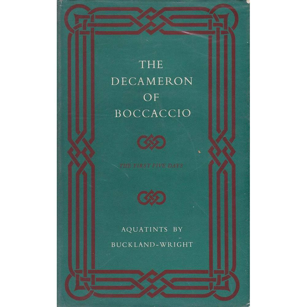 bf755c8f86 The Decameron of Boccaccio - with Aquatints by Buckland-Wright - The Folio  Society