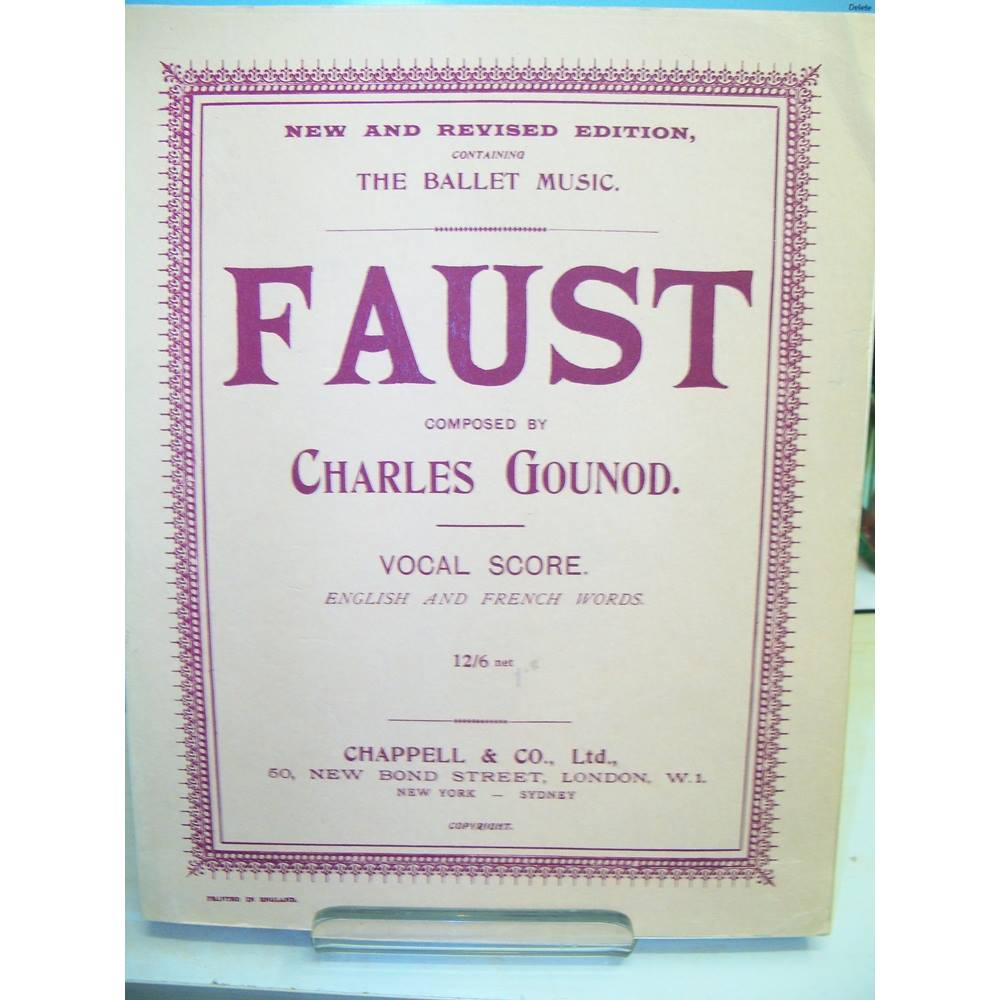 Faust Gounod Vocal Score Oxfam Gb Oxfam S Online Shop