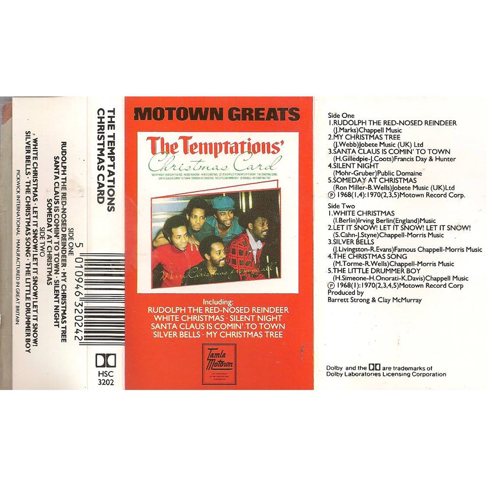 Christmas Card Cassette Tape The Temptations | Oxfam GB | Oxfam\'s ...