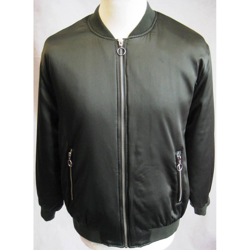 fcc2a26e2 Zara Basic olive green satin bomber jacket size EUR M zara - Size: M -  Green - Bomber jacket | Oxfam GB | Oxfam's Online Shop