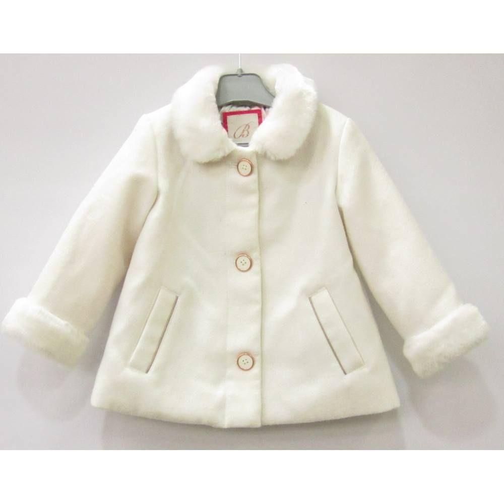 58f753c26889ee Debenhams Baker by Ted Baker Coat - Size  18-24 Months - White ...