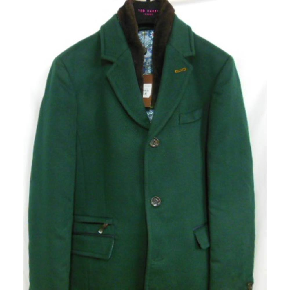 92514b1ee Men s Coat Ted Baker - Size  L - Green - Coat