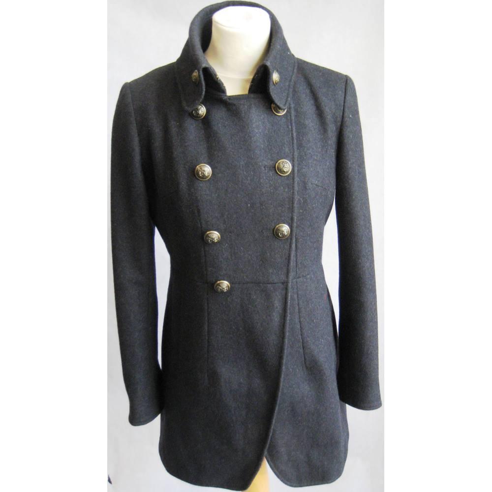 8c5da781aa4 DKNY charcoal grey wool mix military style coat size 2 DKNY - Size  S -. Loading  zoom