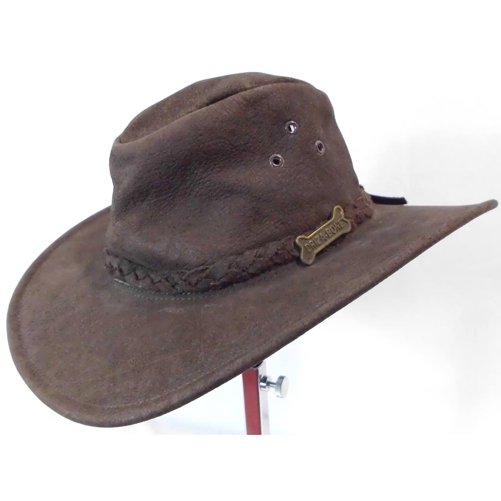 62ba20366acb8 Driza Bone Quality Soft Leather Hat Size Small. Loading zoom