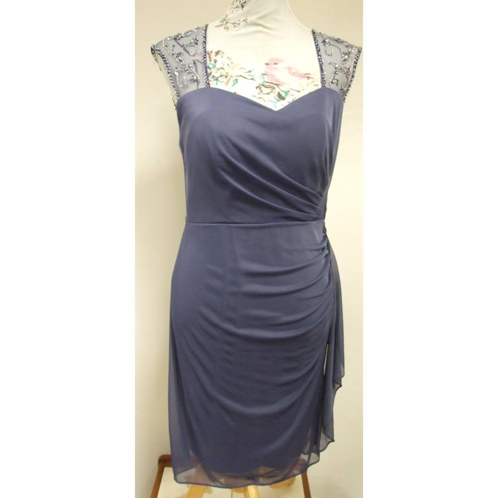 Stenay - Size: 8 - Purple Vintage Dress | Oxfam GB | Oxfam\'s Online Shop