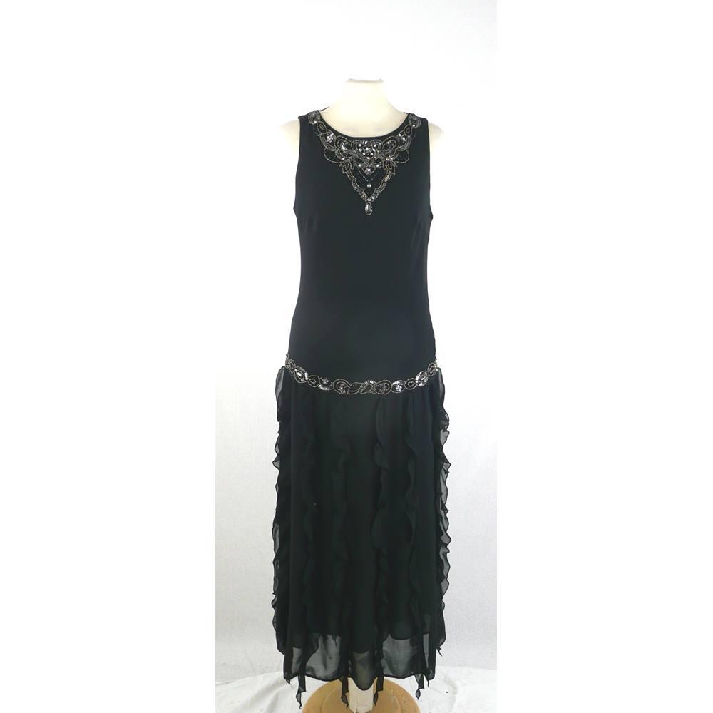 Nicholas Millington - Size  10 - Black 1920 s Style - Cocktail Dress.  Loading zoom f0e19d6f2