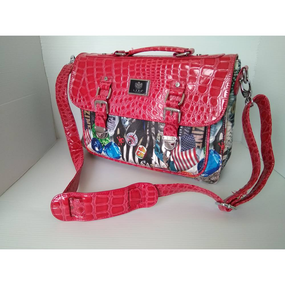 Lydc London Satchel Bag Laptop Size Not Specified Red Loading Zoom