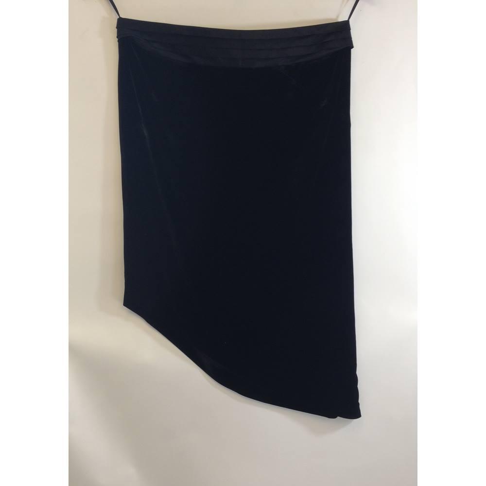 a19bb146606 M S Marks and Spencer Per Una Speziale - Black Velvet Skirt - size 20 M S  Marks. Loading zoom