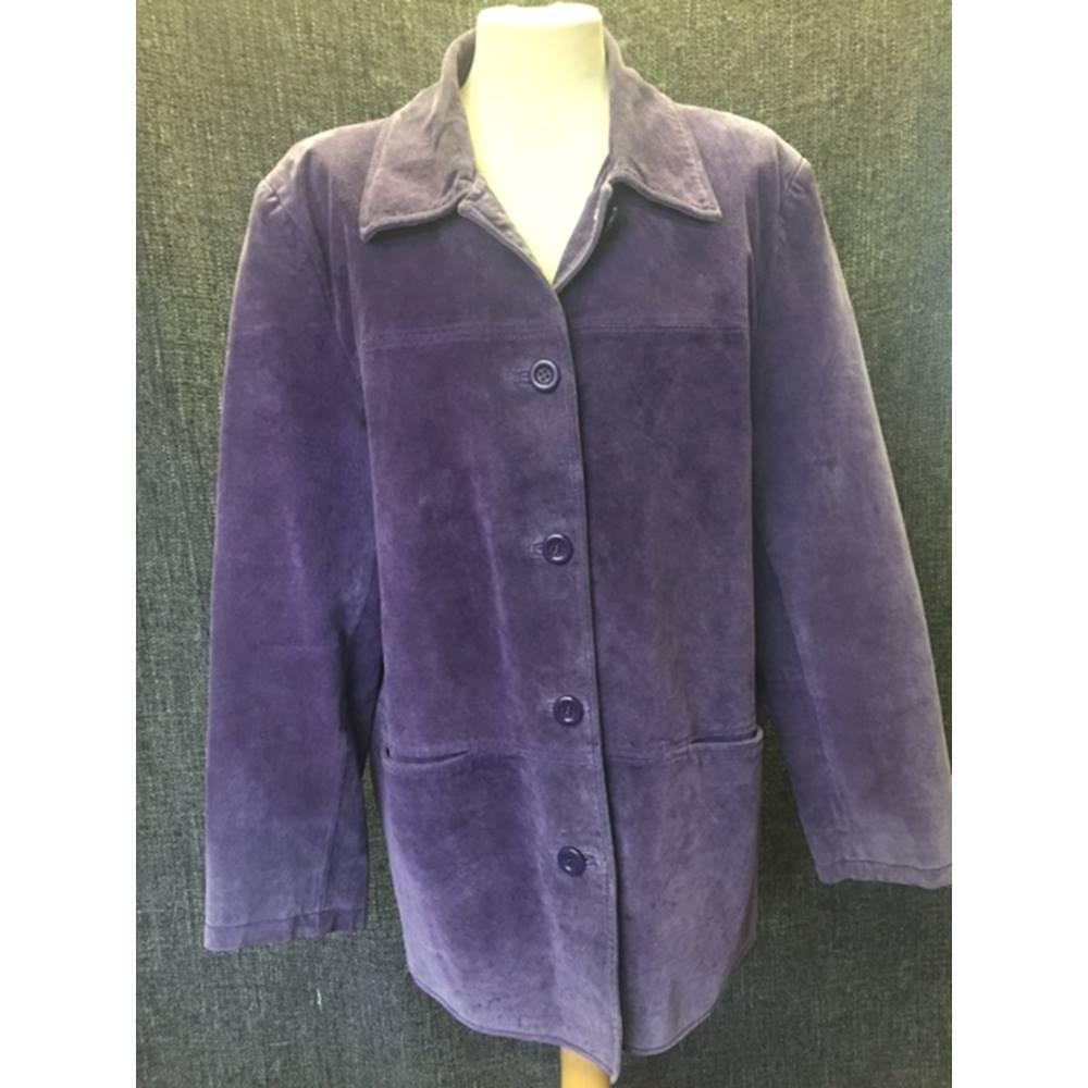 2d99764cf5 Women s Purple 100% Leather Beth Terrell Jacket. Loading zoom