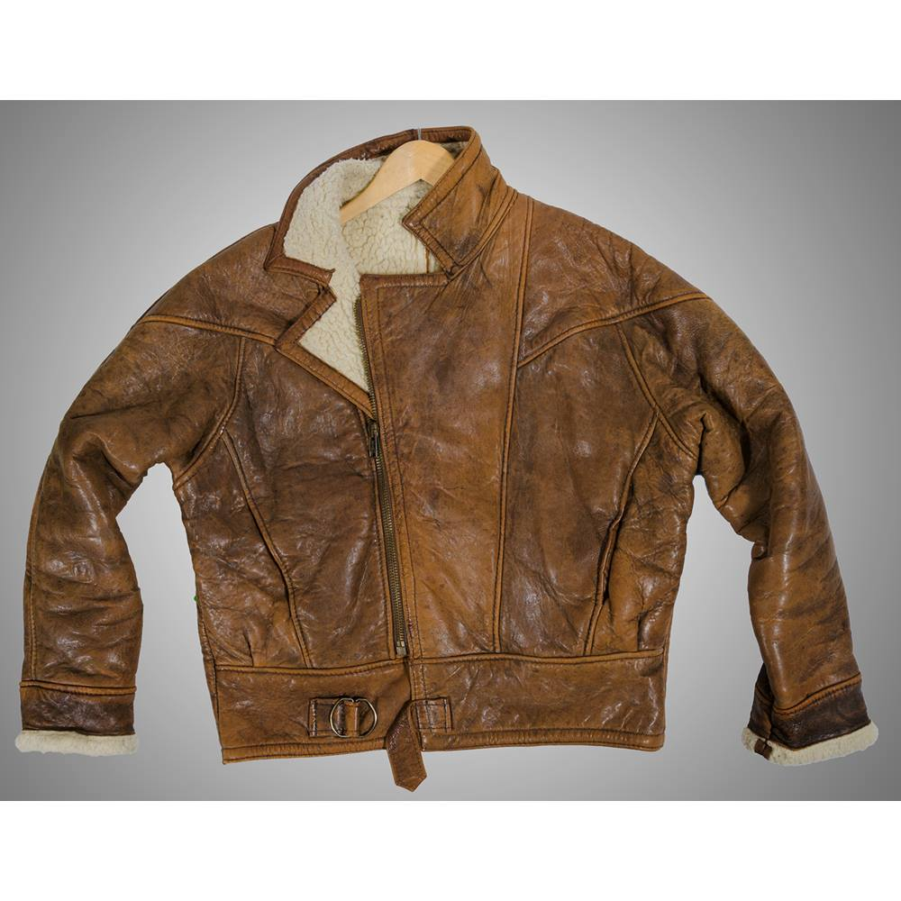 22d57e95a Vintage Men's leather flying jacket - Colour: Light Brown | Oxfam GB |  Oxfam's Online Shop