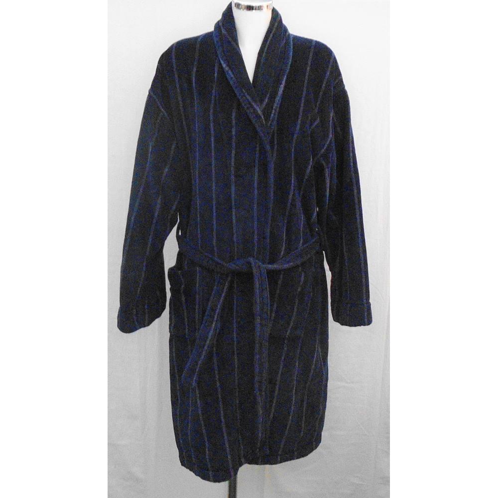 John Rocha navy dressing gown Size L | Oxfam GB | Oxfam\'s Online Shop