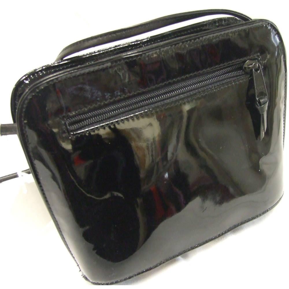 Jane Shilton - Black Leather Patent Shoulder bag  efc098a58e2f3