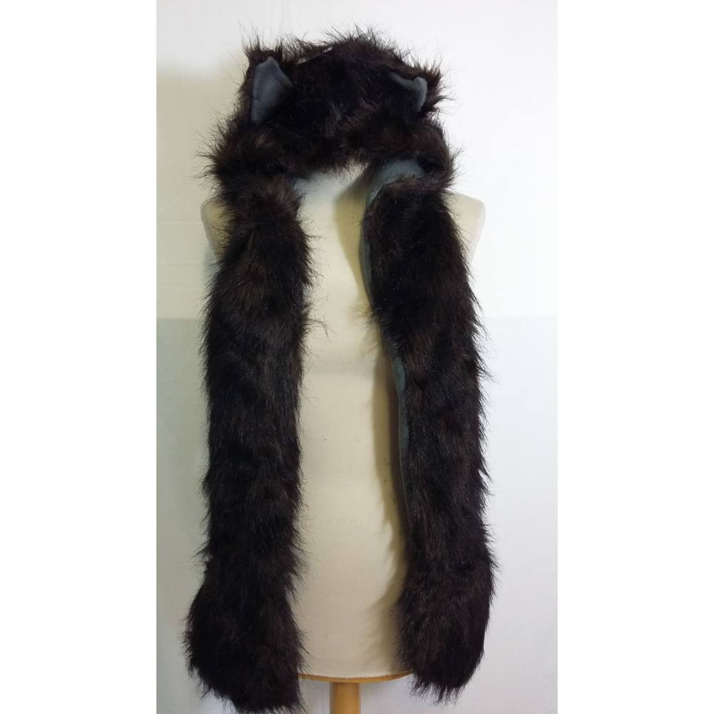 Faux fur husky hat and scarf BNWT Autumn Faith - Size  One size - Brown 0284ce8624a