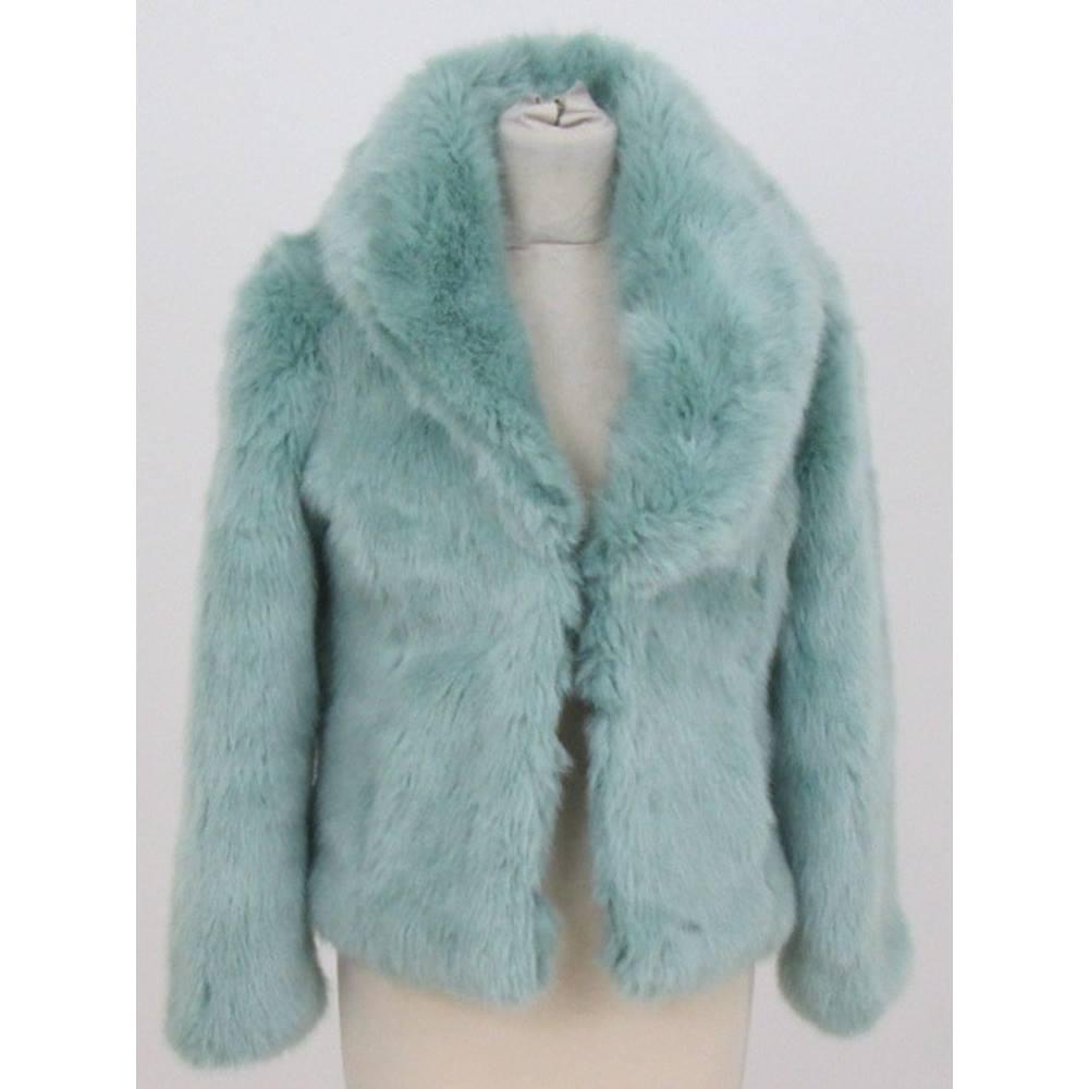 8e7fea726 Miss Selfridge size S mint green faux fur jacket | Oxfam GB | Oxfam's ...