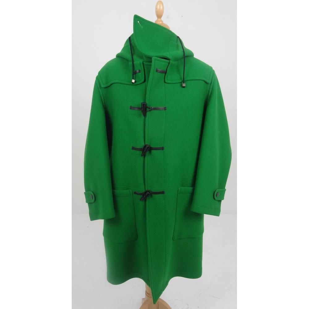 b682df51d6d Burberry XXL English Lawn Green Wool Blend Duffle Coat