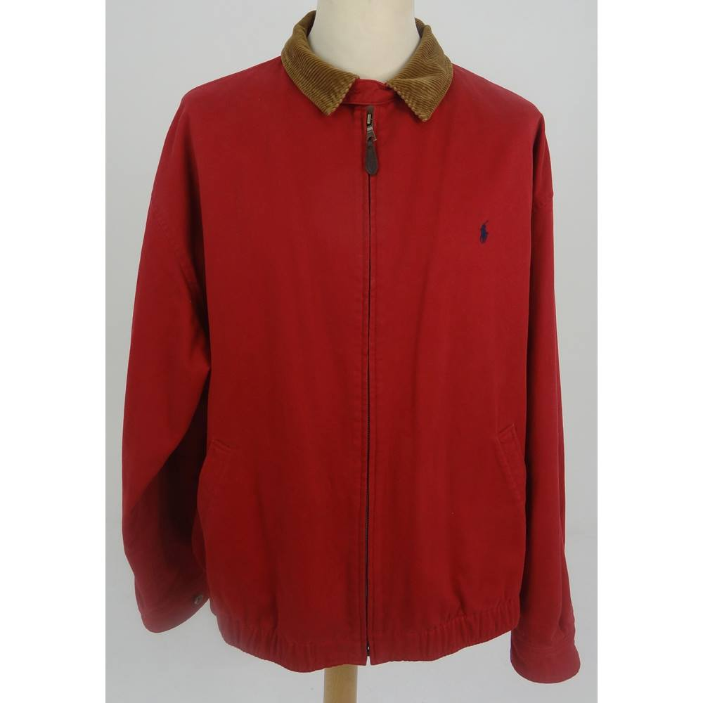 Polo Shop Jacket Cord With Xxl Red Oxfam's Gb Ralph Lauren By Size Online CollarOxfam tQhsrCd