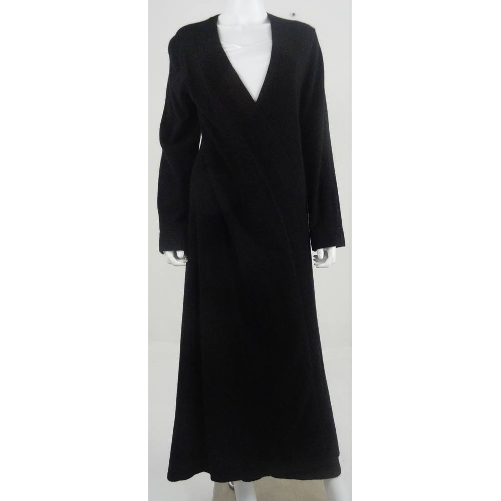 M&S Rosie for Autograph Size 12/14 Long Cashmere Black Dressing Gown ...