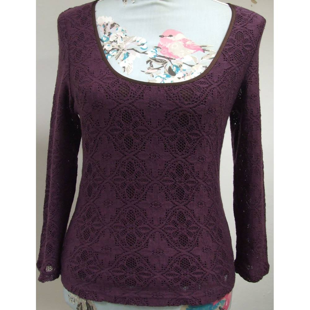 Pretty Press   Bastyan Purple Long-Sleeved Top (size 12) Press   Bastyan.  Loading zoom ae7f93d956