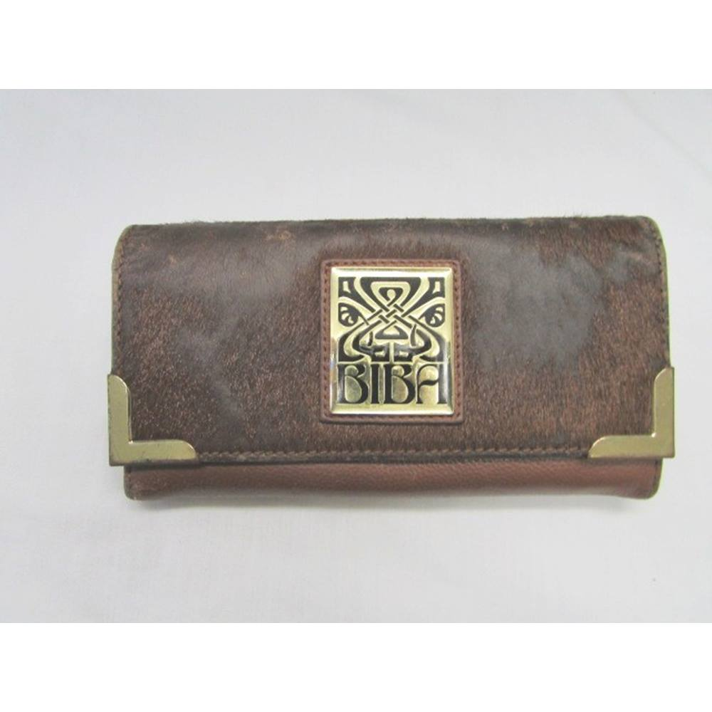 Vintage Biba Size 19 Cm X 10 Cm Tan Leather Purse Oxfam Gb Oxfam S Online Shop