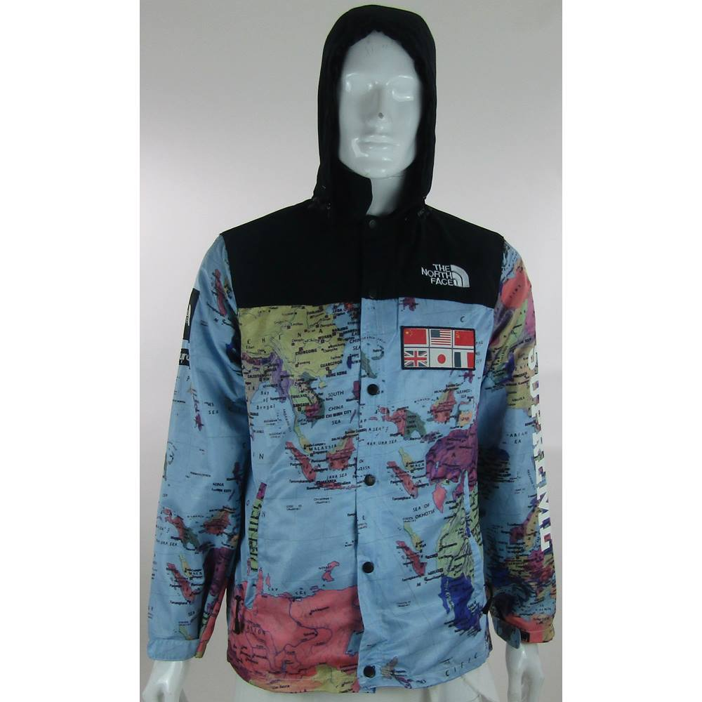 The north face x supreme size xl world map print zipped the north face x supreme size xl world map print zipped jacket loading zoom gumiabroncs Choice Image