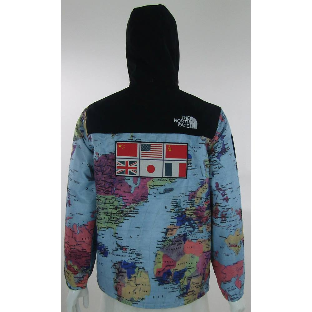 The north face x supreme size xl world map print zipped rollover to zoom gumiabroncs Gallery