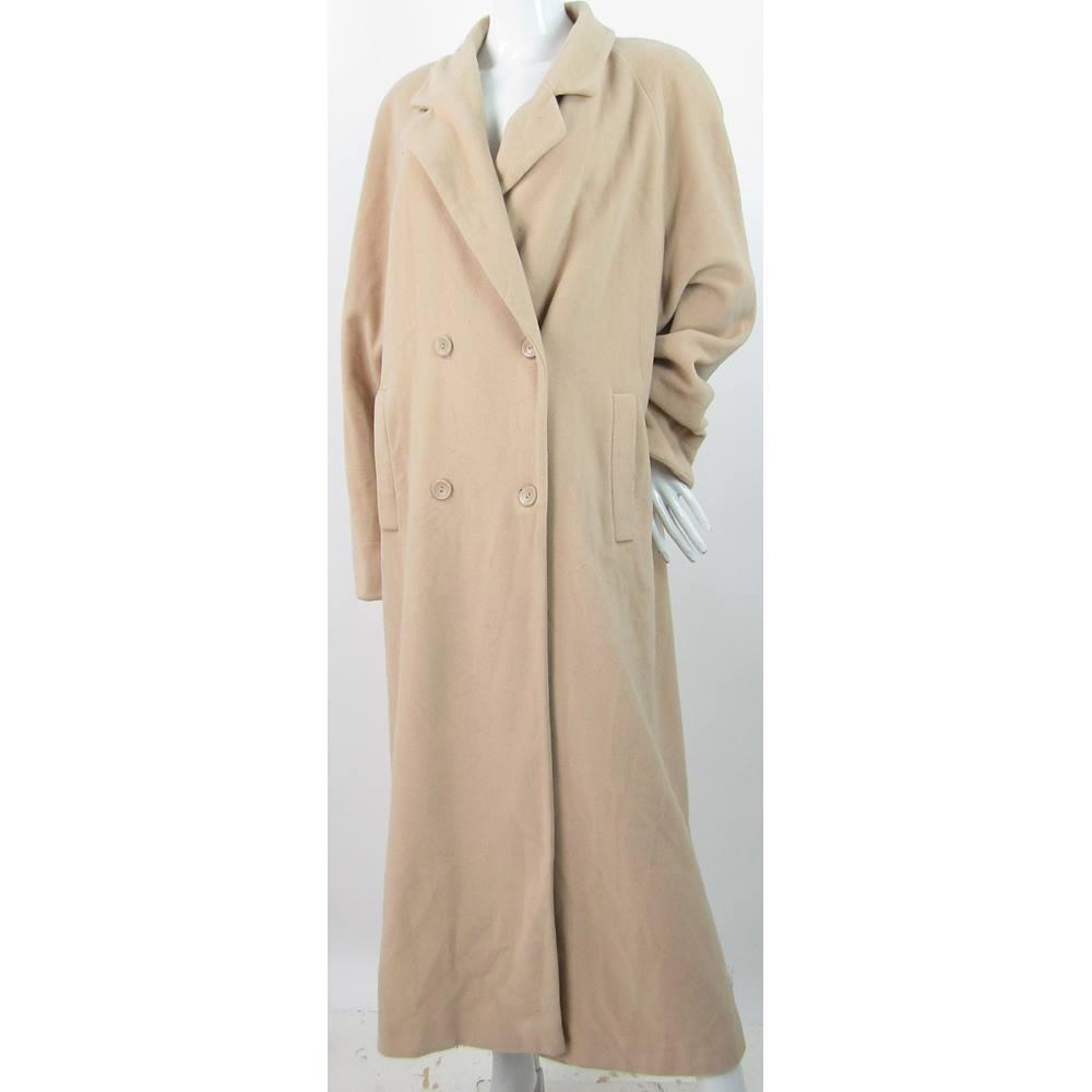 d53871d7d De Keyser London - Size  16 - Beige - Long Double Breasted Coat ...