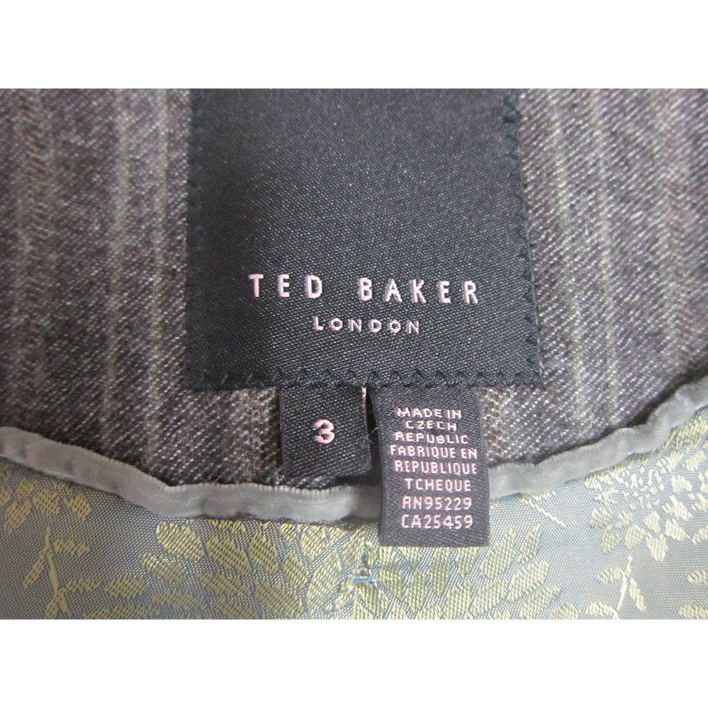 b9385549b85a Ted Baker Ladies Grey Wool Jacket size 3 (UK 12) Ted Baker - Size ...