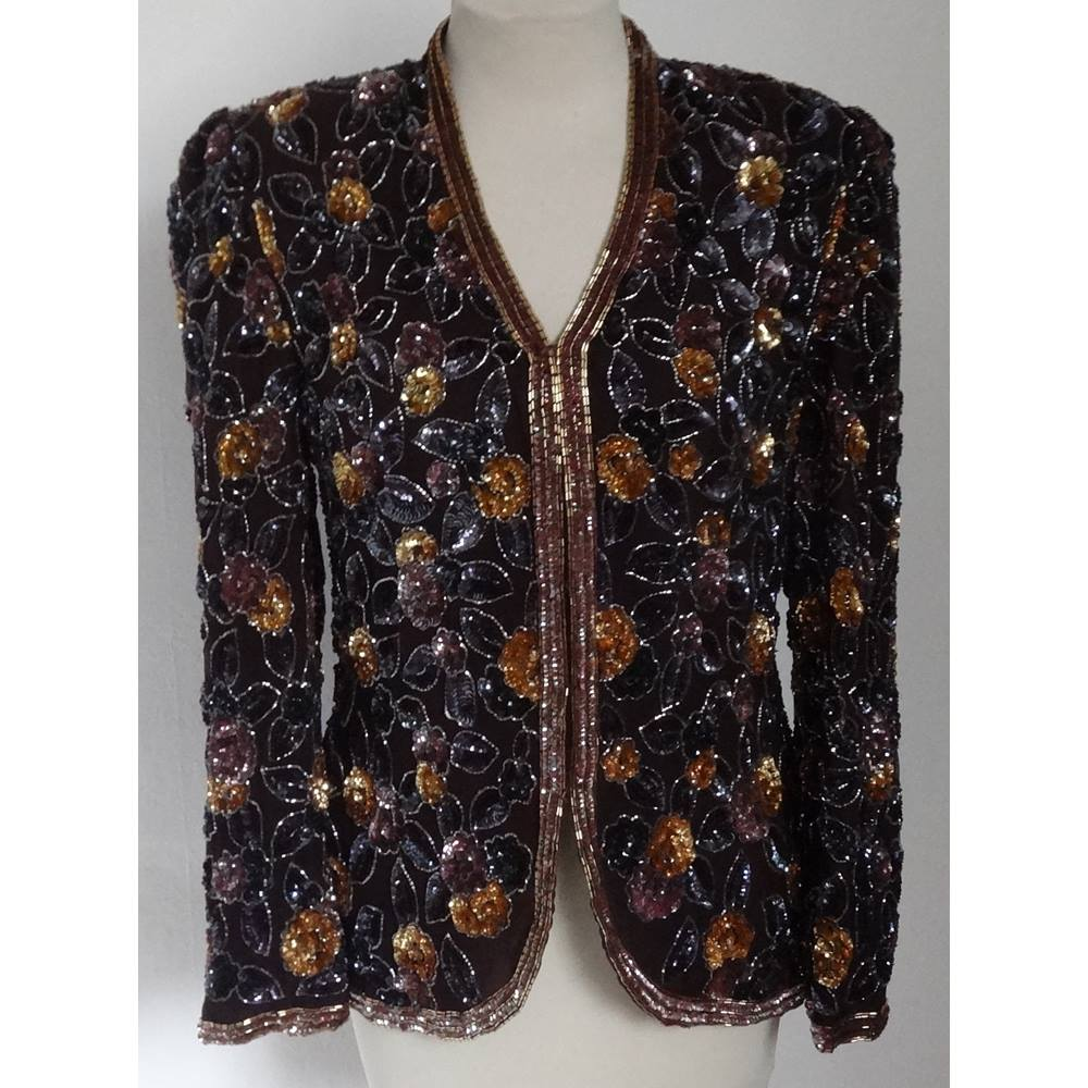 156cc737dba Frank Usher sequined jacket - Size  S - Multi-coloured