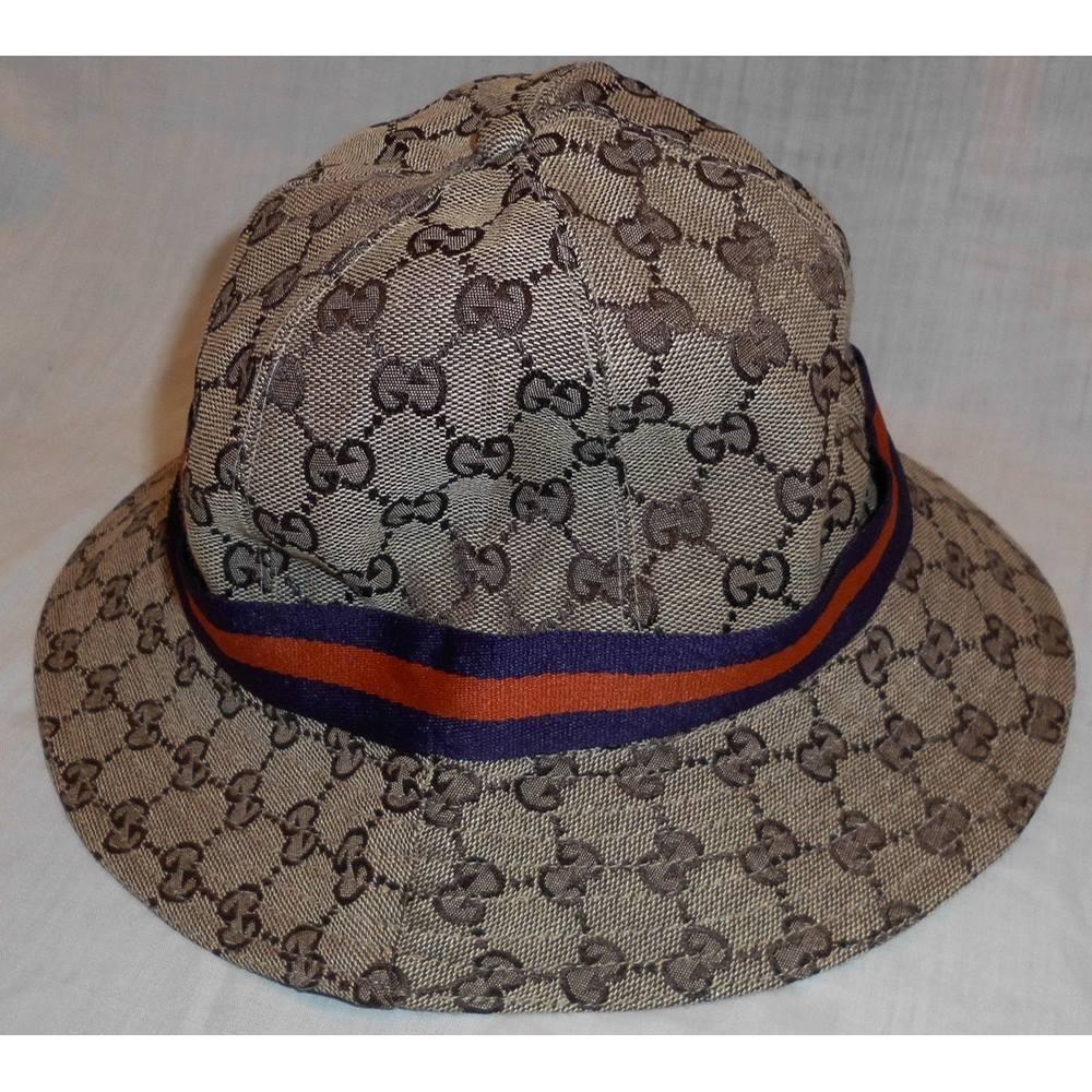Beige Ebony New Gg Bucket Hat Gucci - Multi-coloured. Loading zoom.  Rollover to zoom 4aa2f4cf429b