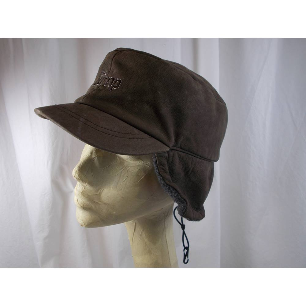 3ffef4339907f leather hat size M L. Loading zoom