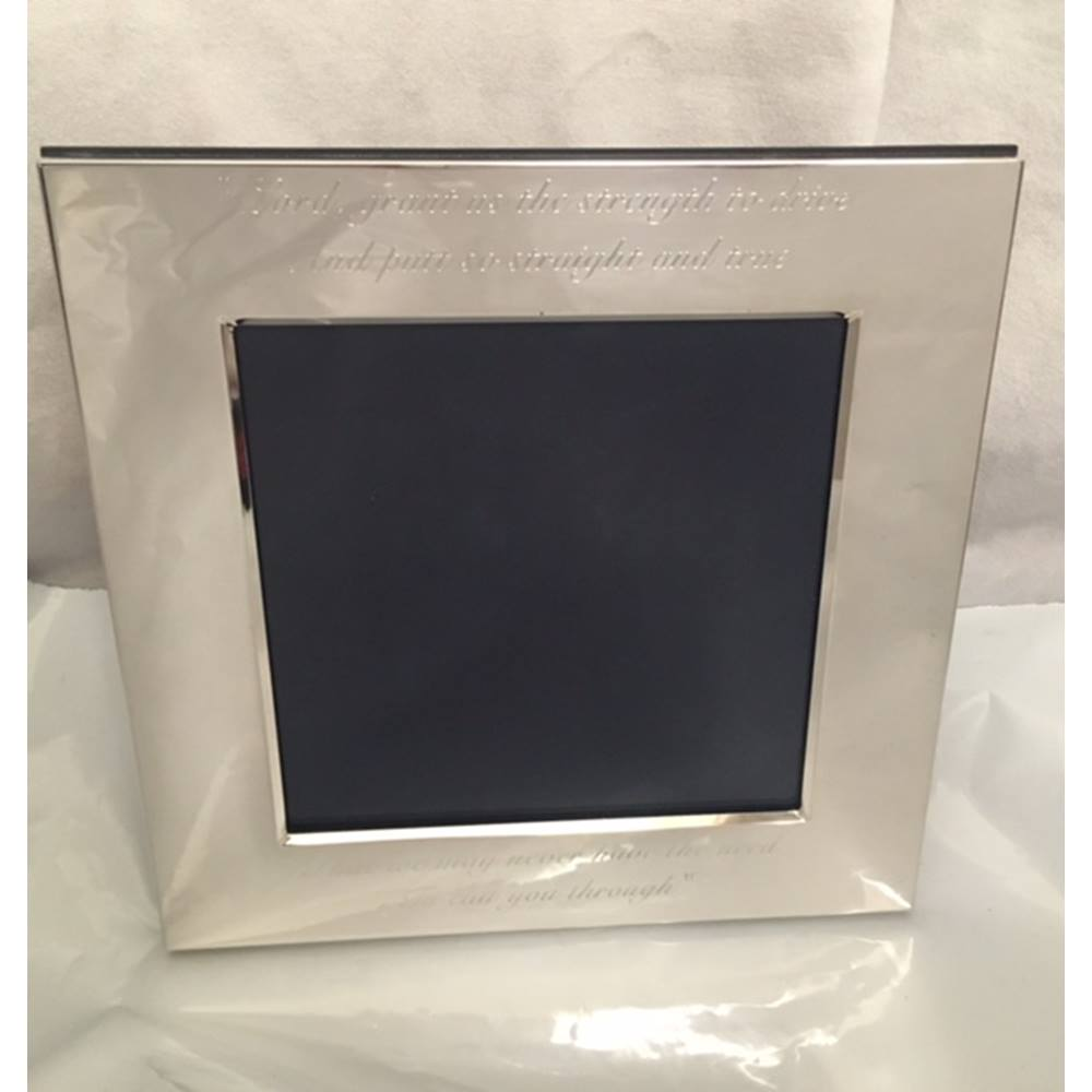 Sterling Silver Photo Frame Golferu0027s Quote Engraving Carrs. Loading Zoom
