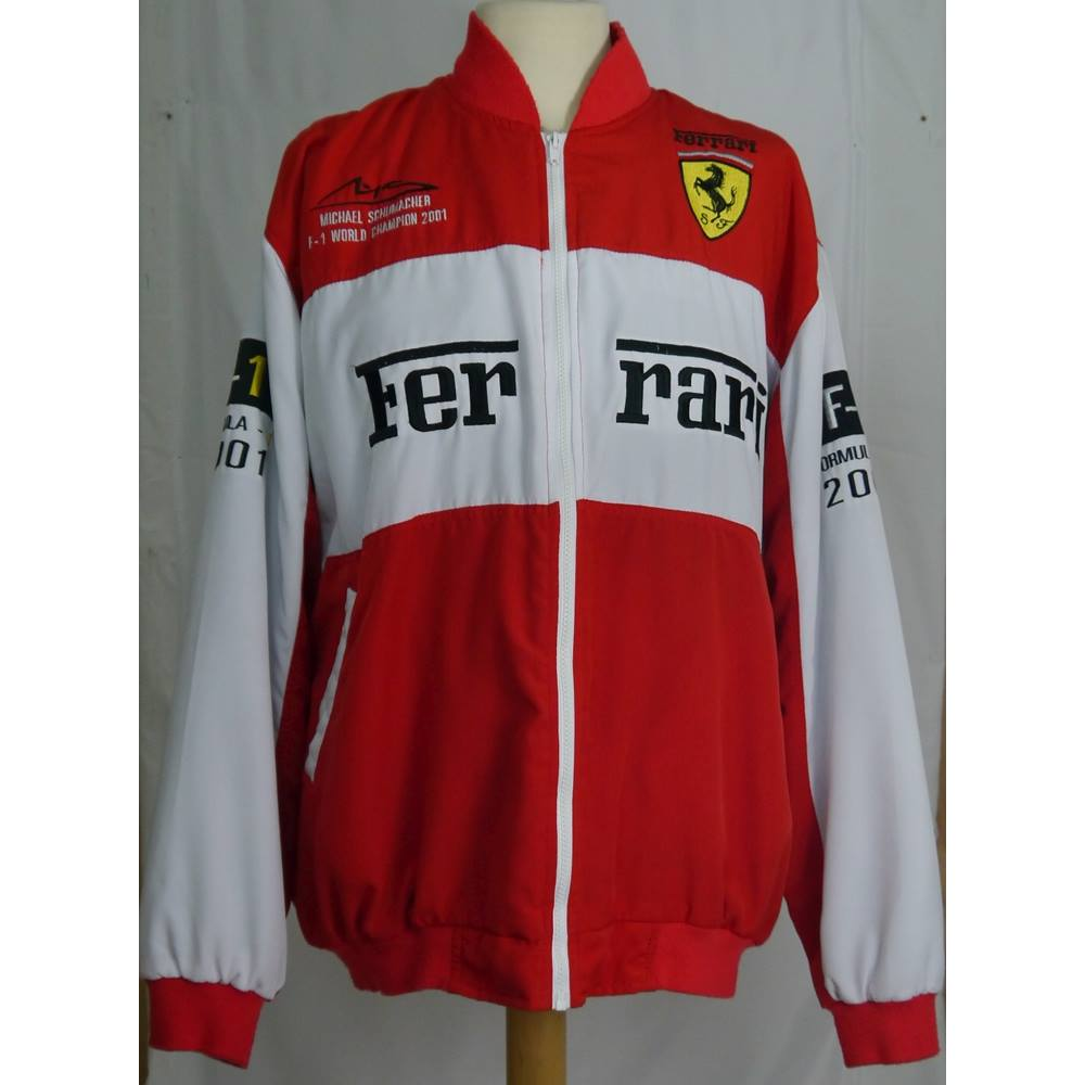 official red sf ferrari jacket puma scuderia formula team itm