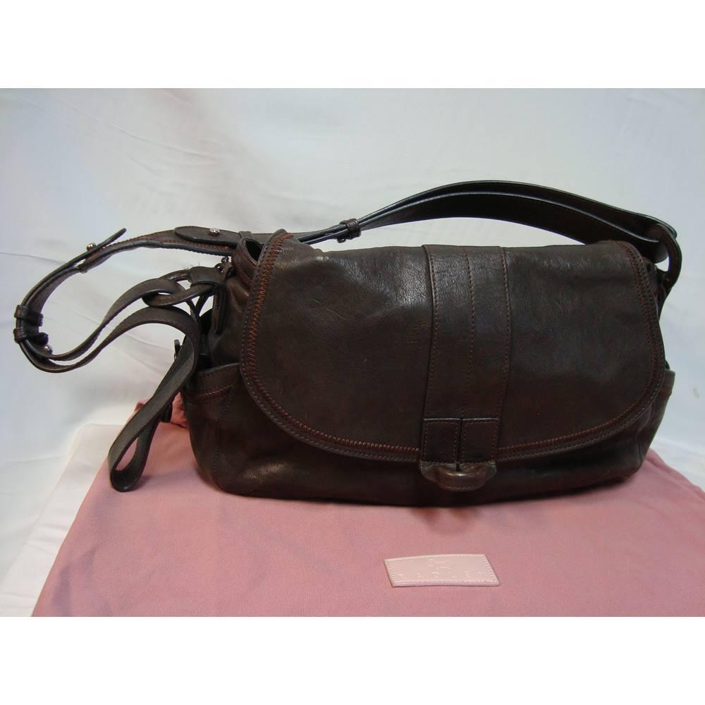1c9887c66a72 Radley Medium Brown Leather Shoulder Bag With Dust Bag. Loading zoom
