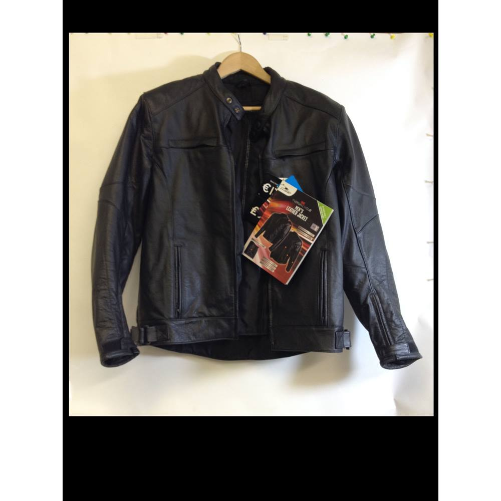 5b1380892 Crane Be Motorcycle size L Men's Motorcycle Leather Jacket Crane Be  Motorcycle - Size: L - Black - Leather jacket | Oxfam GB | Oxfam's Online  Shop