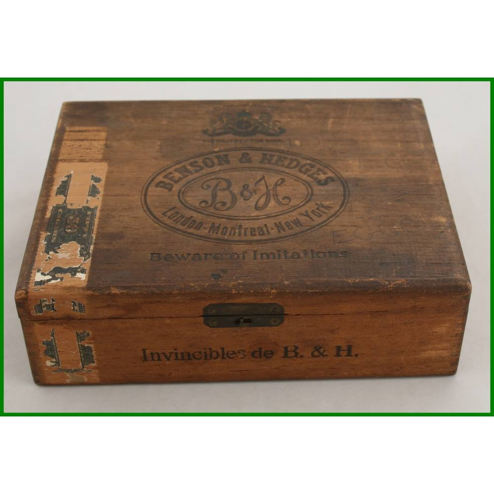 Vintage 1922 Canadian Benson Hedges Cigar Box Oxfam Gb Oxfams Online Shop
