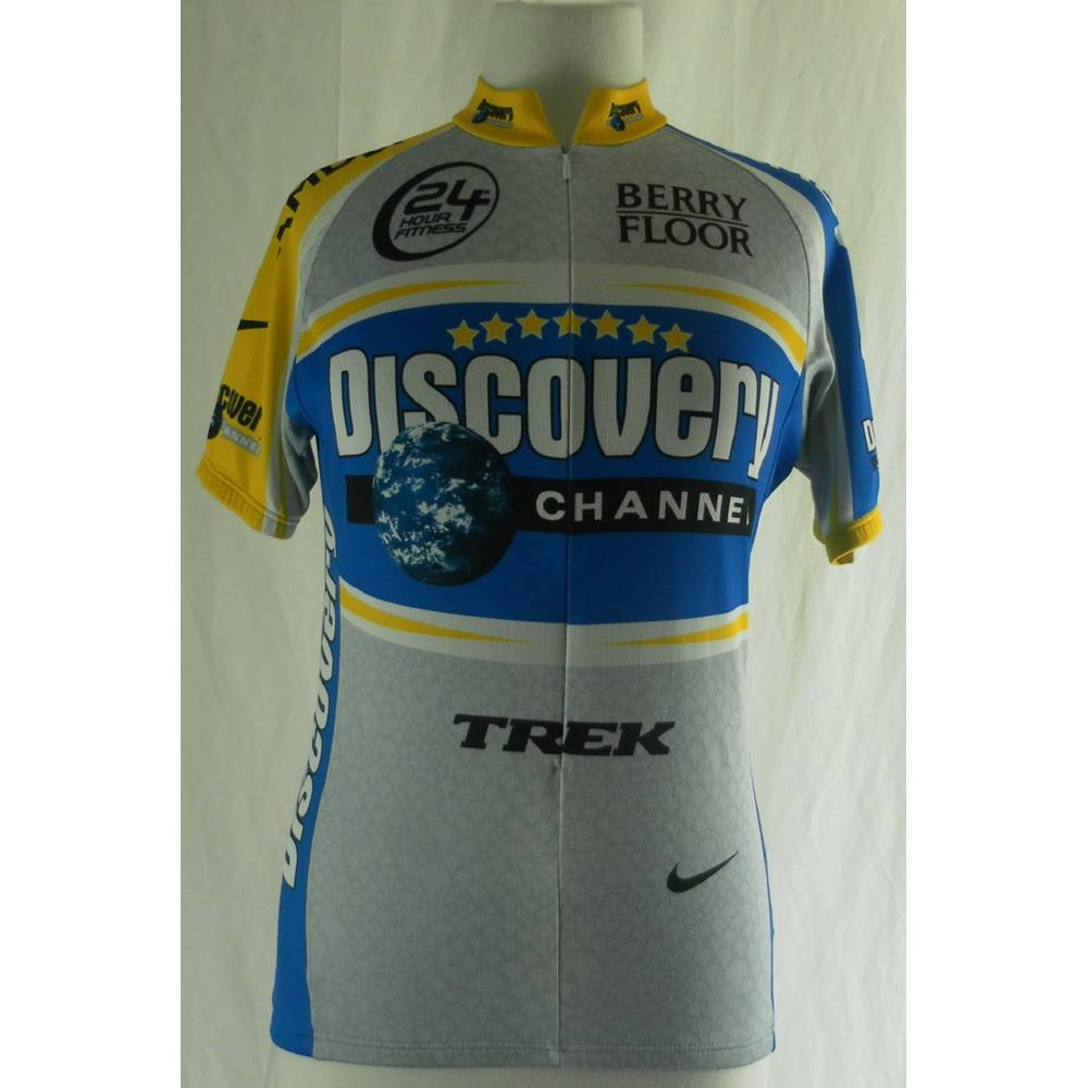 Discovery Channel Cycling Team Jersey - 2005 - Nike - Size: S -  Multi-coloured | Oxfam GB | Oxfam's Online Shop
